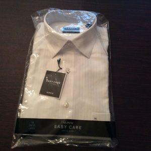 Alfani men's brand new white pinstripe dress shirt